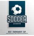 soccer football tournament league background vector image vector image