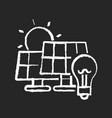solar power station chalk white icon on black vector image
