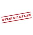 Stop Staples Watermark Stamp vector image
