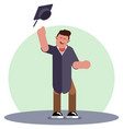 student throws a hat vector image