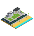 Suburban House Isometric Composition vector image vector image