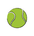 tennis ball sport competition element vector image vector image