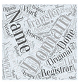 Transferring Domain Names Word Cloud Concept vector image vector image