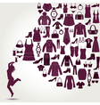 Women s fashion background vector image