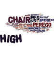your guide to peg perego high chairs text vector image vector image