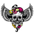 skull with a wings vector image