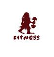 fitness caveman design template vector image