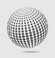 3d sphere logo halftone pattern circle dotted vector image vector image