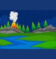 a simple volcano scene vector image