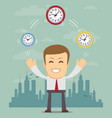abstract businessman holding time vector image vector image
