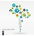 Abstract social media background Growth flower vector image vector image