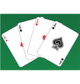 Aces Poker vector image vector image