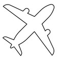 airplane icon black color flat style simple image vector image vector image