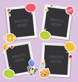 baby photo frames template vector image vector image
