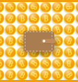 bitcoins and a purse vector image vector image