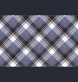 blue check pixel tartan seamless fabric texture vector image vector image
