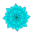 blue rose flower concept logo ethnic plant summer vector image vector image