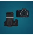 camera slr dslr from front and vector image