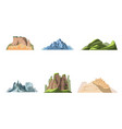 cartoon color nature landscapes mountains set vector image vector image