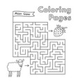 cartoon sheep maze game vector image vector image