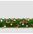 christmas border with berry star candy vector image vector image