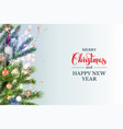 christmas holiday template vector image vector image
