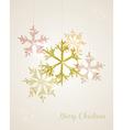 Christmas vintage hanging snowflake vector image vector image