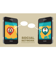 Concept for social network vector image vector image