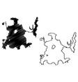 dallas city map vector image vector image