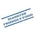 Diabetes Friendly Food Watermark Stamp vector image vector image
