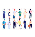 different professionals group workers vector image vector image