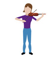 female avatar playing a violin vector image vector image