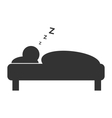Flat sleep icon isolated on white vector image