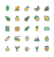 Food Vegetables Icons 4 vector image vector image