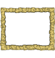 frame made of stones vector image vector image