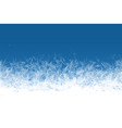 frost window frozen ornament blue ice crystals vector image vector image