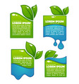glossy and shine labels and banners with green vector image vector image