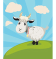Goat on Lawn vector image