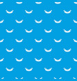grilled sausage pattern seamless blue vector image vector image