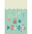 Happy Fish Card vector image