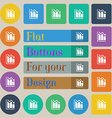 histogram icon sign Set of twenty colored flat vector image