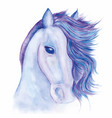 horse drawn watercolor vector image vector image