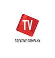 initial letter tv logo template design vector image vector image