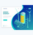 isometric alternative eco green ecology vector image