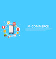 m-commerce phone banner vector image vector image