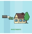 man buys a house Contributions to real estate vector image
