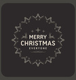 Merry Christmas Postcard Decorative Greeting Frame vector image