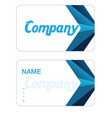 name card blue polygonal background image vector image