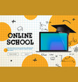 online school distance learning website page vector image vector image