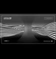 optical illusion wave hexagonal dark technology vector image